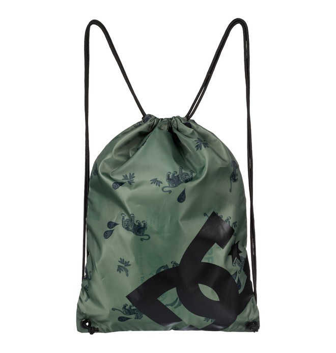 0 Cinched - Drawstring Backpack Green EDYBA03028 DC Shoes