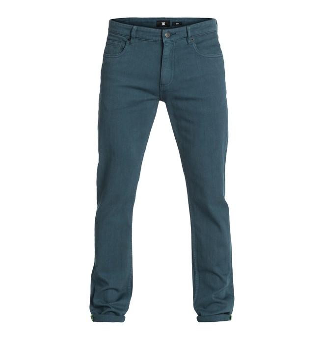 """0 Men's Worker Slim Color 32"""" Inseam Jeans  EDYDP03003 DC Shoes"""