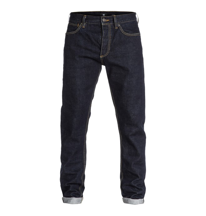 "0 Men's Worker Selvedge Taper 30"" Inseam Jeans  EDYDP03036 DC Shoes"