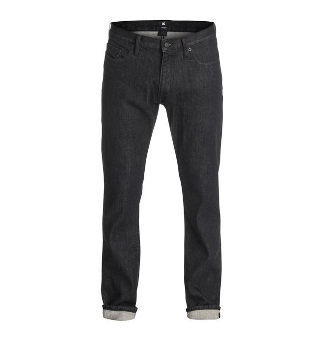 0 Worker Basic Straight Jean Black Rinse 32  EDYDP03080 DC Shoes