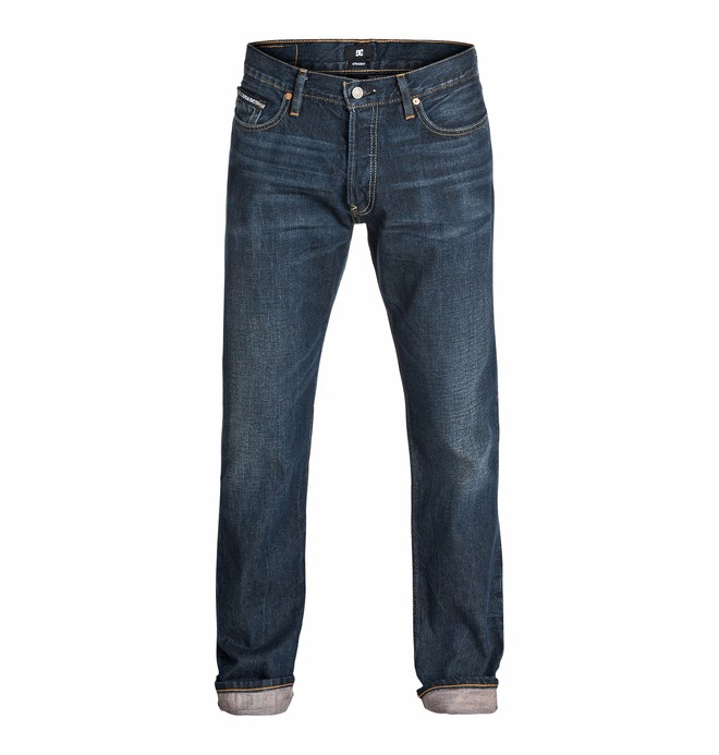 "0 Wkr Straight Light Stone Wash 34"" Inseam Jeans  EDYDP03101 DC Shoes"