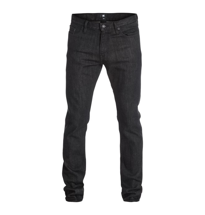 "0 Worker Basic Slim Black Rinse 34"" Inseam Jean  EDYDP03122 DC Shoes"