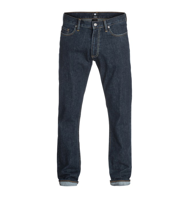 "0 Worker Basic Straight Indigo Rinse 34"" Inseam Jean  EDYDP03125 DC Shoes"