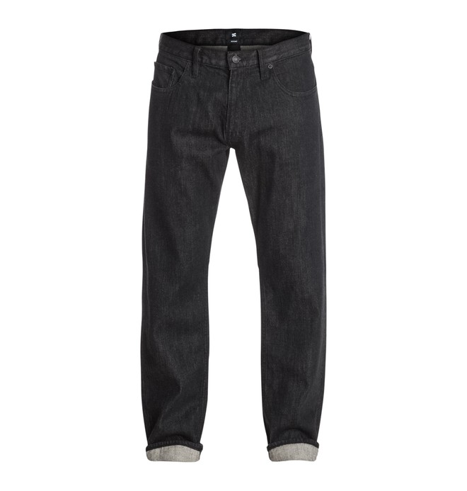 "0 Worker Basic Roomy Black Rinse 34"" Inseam Jean  EDYDP03133 DC Shoes"