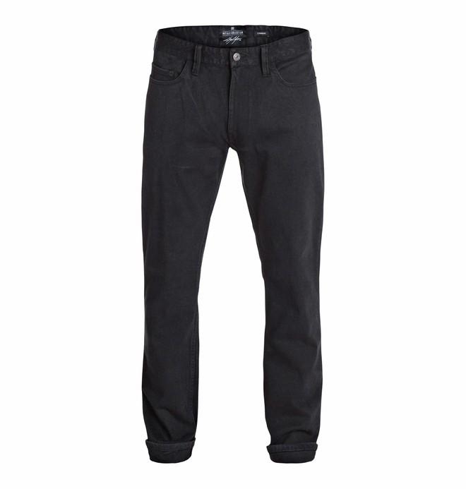 """0 Men's Cole Cult Worn Straight Black 32"""" Jeans  EDYDP03137 DC Shoes"""