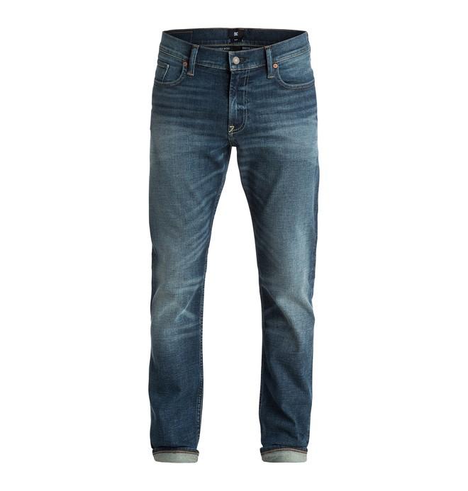 "0 Men's Washed Slim Fit Light Worn 34"" Jeans  EDYDP03158 DC Shoes"