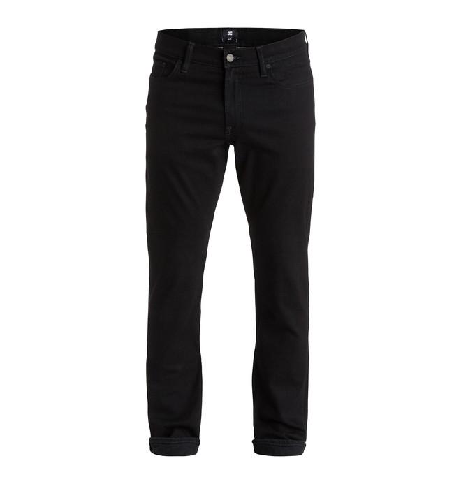 "0 Men's Worker Slim Fit Black Rinse 34"" Jeans  EDYDP03179 DC Shoes"