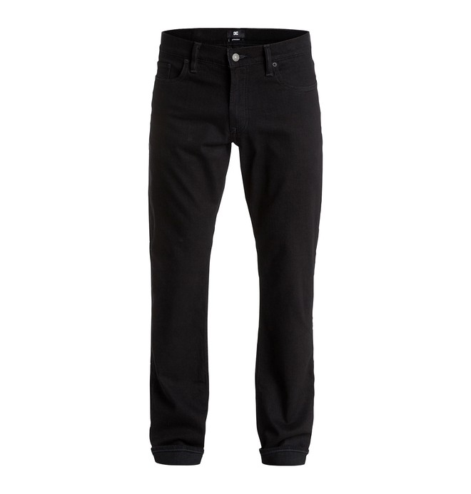 "0 Worker Straight Fit Black Rinse 34"" - Jean straight  EDYDP03183 DC Shoes"