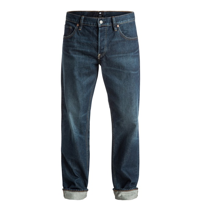 """0 Men's Washed 32"""" Roomy Fit Jeans  EDYDP03210 DC Shoes"""