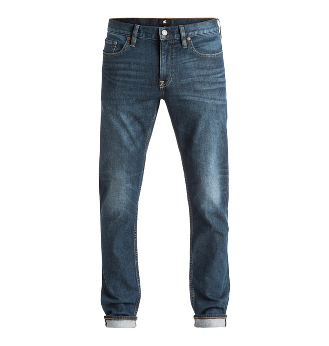 0 Hombres Jeans Washed Medium Stone Slim Fit  EDYDP03252 DC Shoes