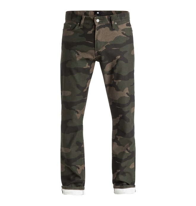 0 Hombres Jeans Printed Straight Fit  EDYDP03270 DC Shoes