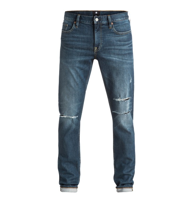 0 Men's Medium Stone Destroyed Slim Fit Jeans  EDYDP03271 DC Shoes