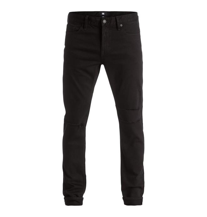 0 Men's Black Destroyed Slim Fit Jeans  EDYDP03272 DC Shoes