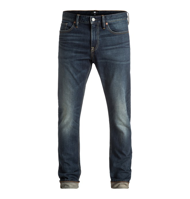 0 Washed Medium Stone - Slim Fit Jeans Blue EDYDP03284 DC Shoes