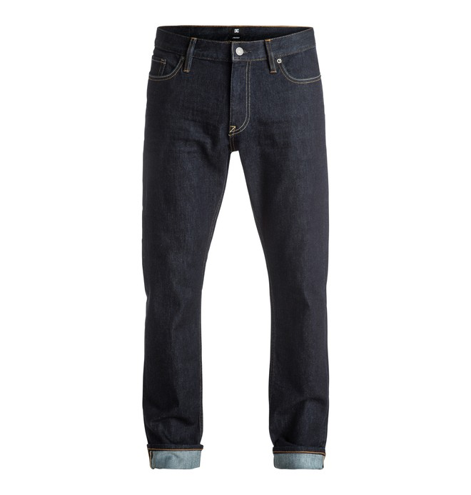 0 Men's Worker Indigo Rinse Straight Fit Jeans  EDYDP03304 DC Shoes