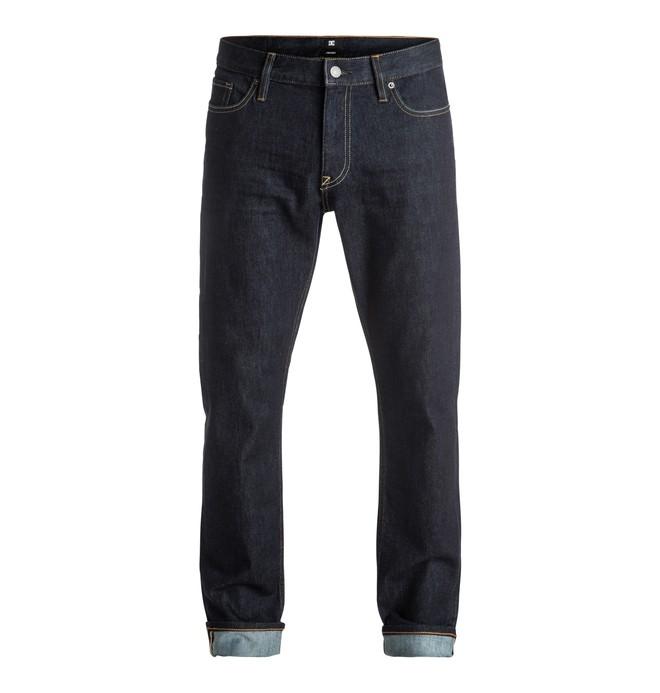 0 Hombres Pantalón de Mezclilla Enjuague Indigo Ajuste Recto  Worker  EDYDP03304 DC Shoes