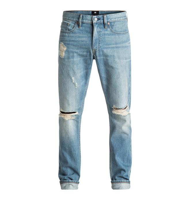 0 Hombres Pantalón de Mezclilla Lavado Indigo Ajuste Afilado Recto  Desty  EDYDP03306 DC Shoes