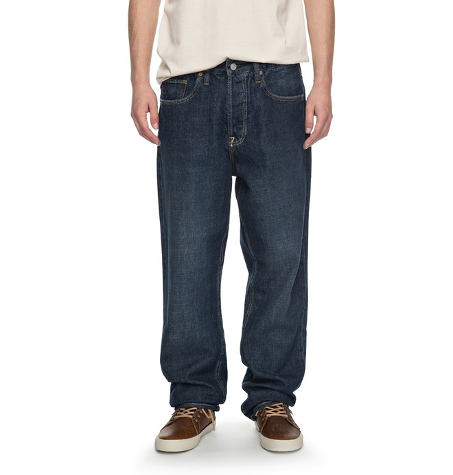 0 Worker Stone Wash Relaxed Relaxed Fit Jeans  EDYDP03323 DC Shoes