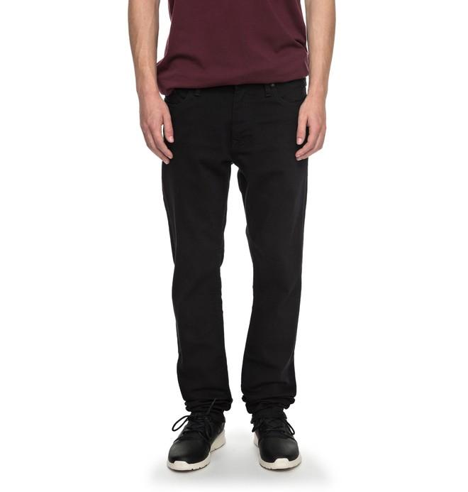 0 Men's Worker Black Rinse Slim Slim Fit Jeans Black EDYDP03331 DC Shoes