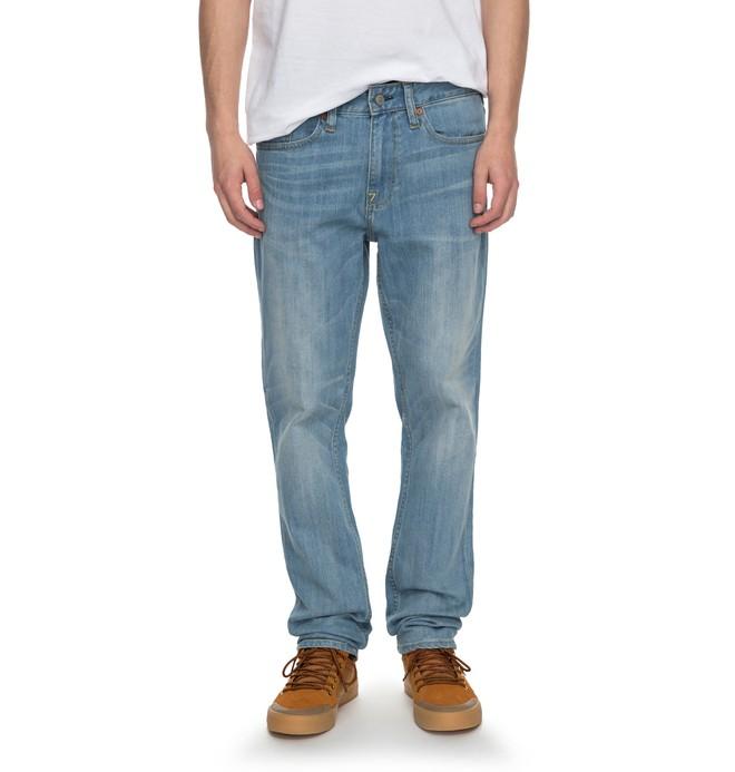 0 Worker Light Indigo Bleach Slim - Jean slim  EDYDP03334 DC Shoes