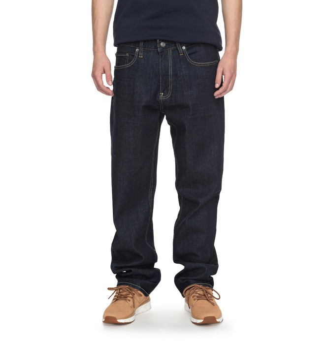 0 Worker Indigo Rinse Relaxed Relaxed Fit Jeans  EDYDP03336 DC Shoes