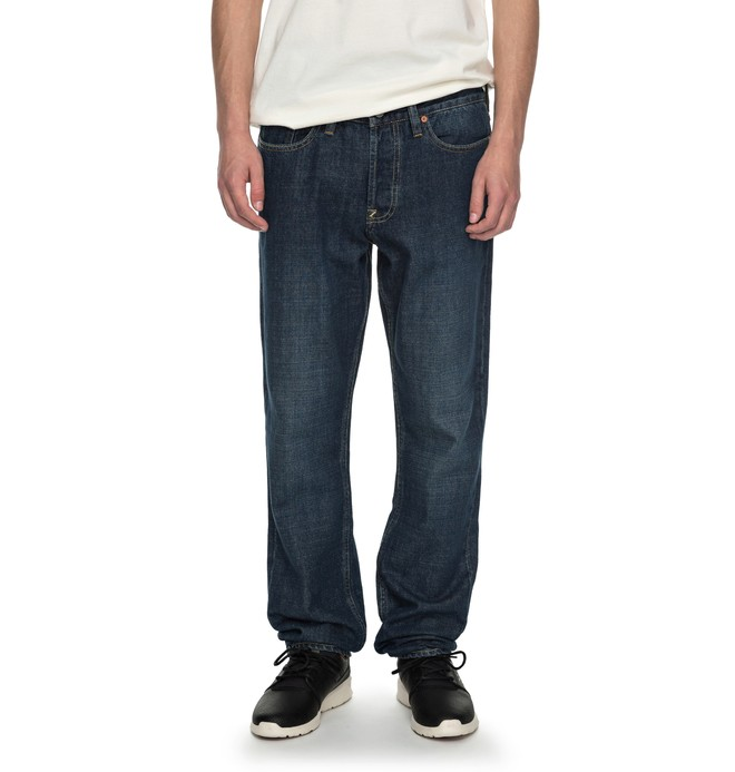 0 Worker Stone Wash Straight Straight Fit Jeans  EDYDP03338 DC Shoes