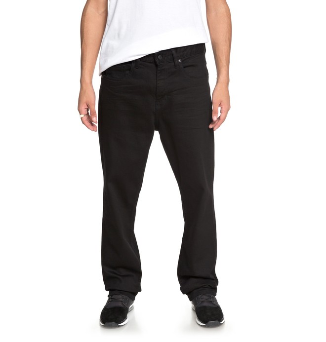 0 Worker Black Rinse - Relaxed Fit Jeans Black EDYDP03349 DC Shoes