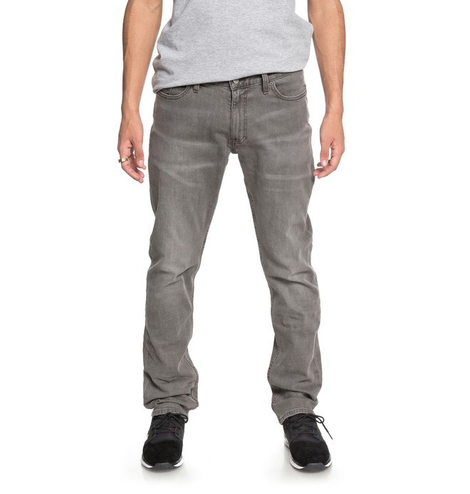 0 Men's Worker Straight Fit Jeans Grey EDYDP03358 DC Shoes