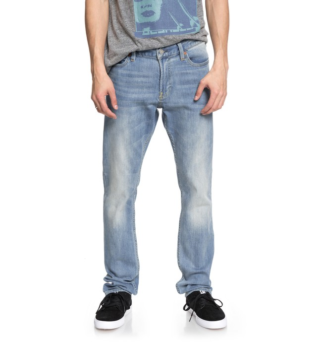 0 Men's Worker Light Indigo Blue Slim Fit Jeans Blue EDYDP03363 DC Shoes