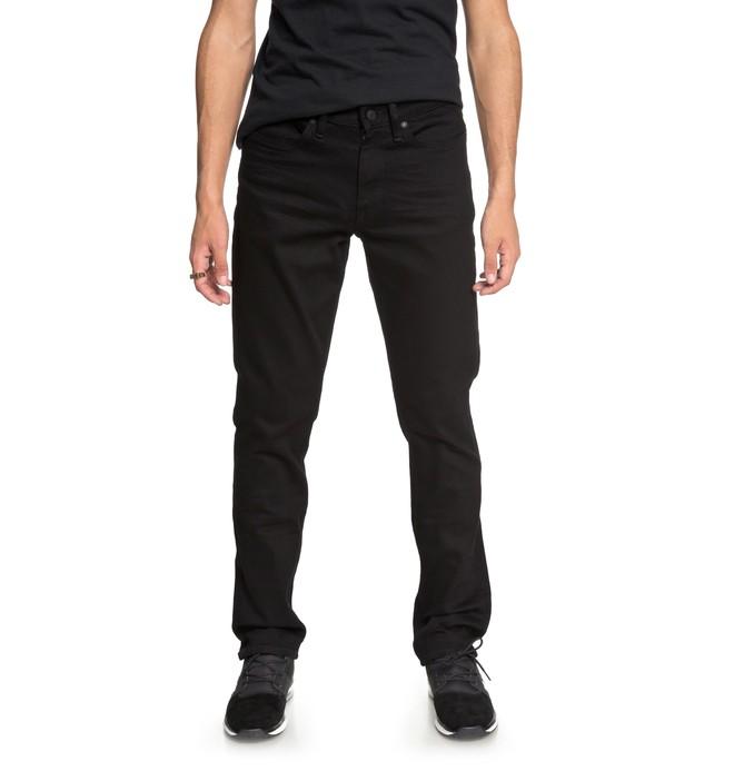 0 Men's Worker Black Rinse Straight Fit Jeans Black EDYDP03367 DC Shoes
