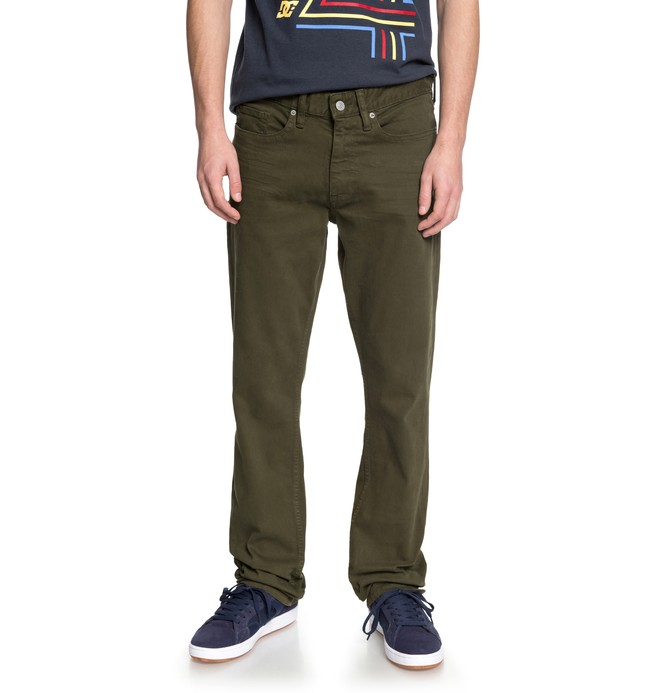 0 Men's Sumner Straight Fit Jeans Brown EDYDP03368 DC Shoes