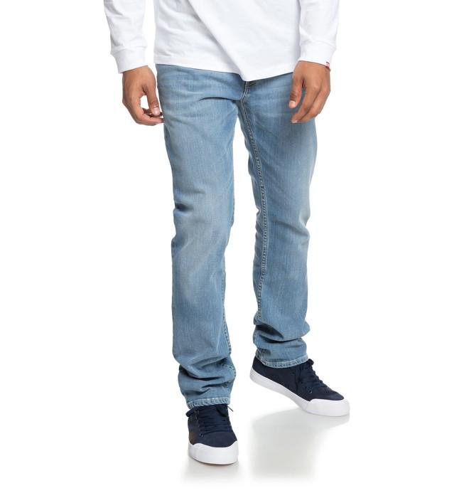 0 Worker Light Bleach Indigo Blue - Vaqueros de corte recto para Hombre Azul EDYDP03374 DC Shoes