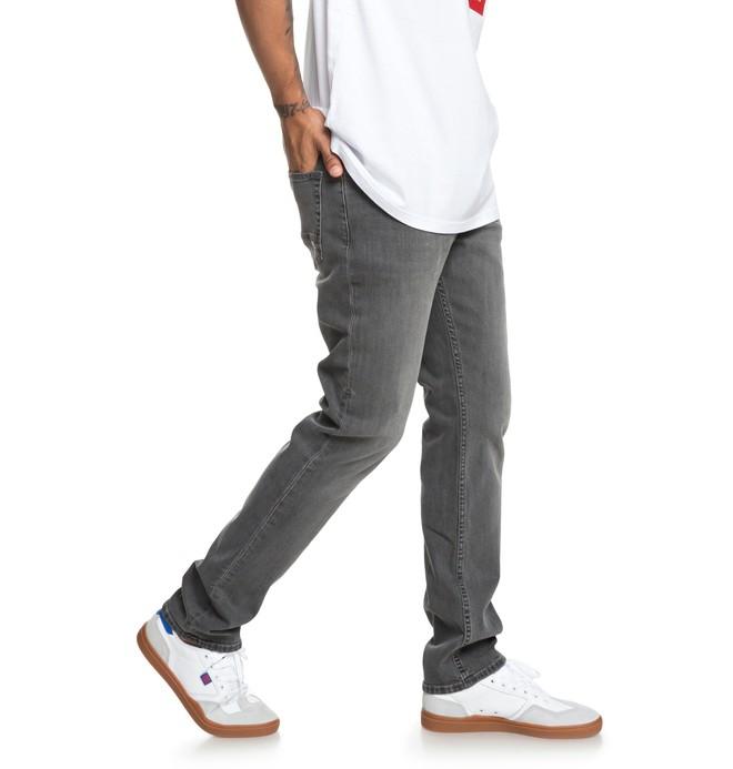 0 Worker Medium Grey Straight Fit Jeans Black EDYDP03375 DC Shoes