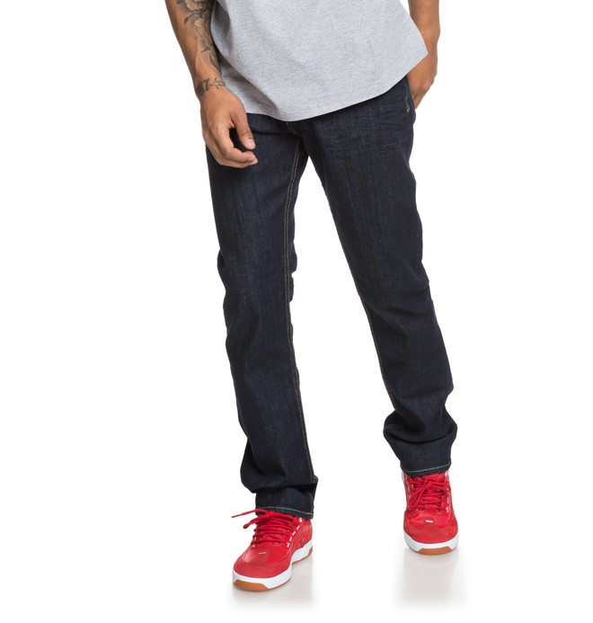 0 Worker Indigo Rinse - Straight Fit Jeans  EDYDP03376 DC Shoes