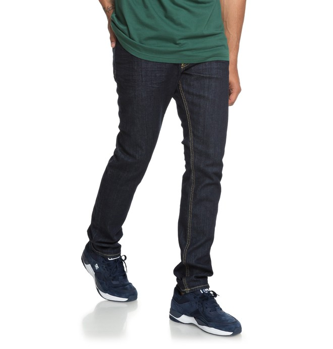 0 Worker Indigo Rinse Slim Fit Jeans Blue EDYDP03384 DC Shoes