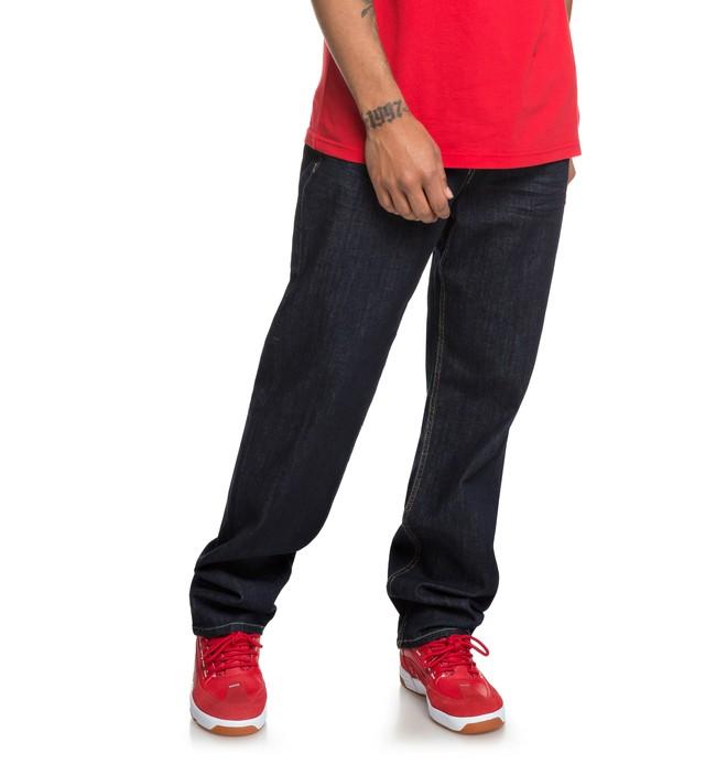 0 Worker Indigo Rinse - Jean ample pour Homme Bleu EDYDP03386 DC Shoes