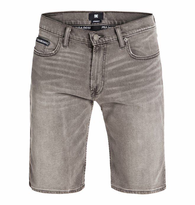 0 Worker Straight Denim Shorts Grey stone  EDYDS03004 DC Shoes