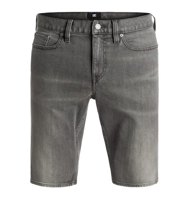0 Washed Light Grey - Short en denim  EDYDS03021 DC Shoes