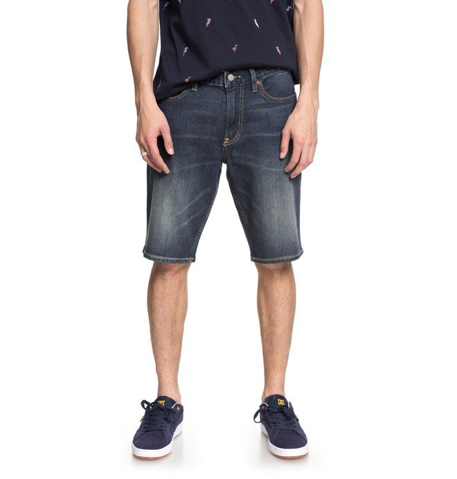 0 Worker Medium Stone - Short en denim pour Homme Bleu EDYDS03029 DC Shoes