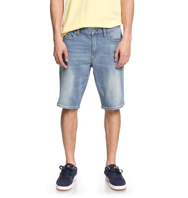 0 Men's Worker Light Indigo Blue Denim Shorts Blue EDYDS03035 DC Shoes