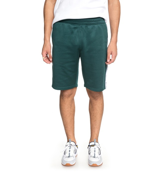 0 Men's Heggerty Tracksuit Shorts Green EDYFB03047 DC Shoes