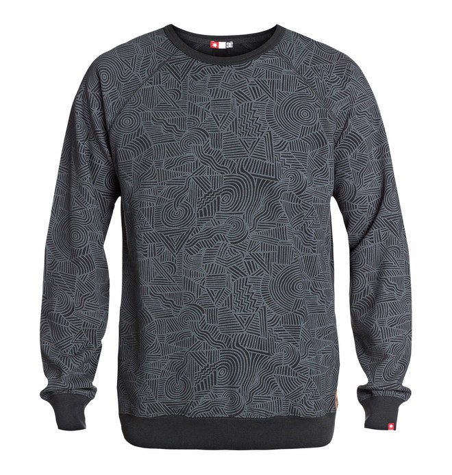 0 Men's Core Crew Print Sweatshirt  EDYFT03067 DC Shoes