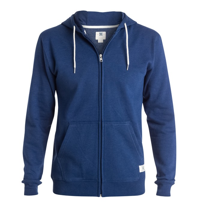 0 Men's Rebel Zip-Up Hoodie  EDYFT03096 DC Shoes