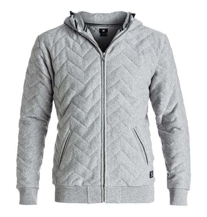 0 Men's Warburton Quilted Zip-Up Hoodie  EDYFT03215 DC Shoes