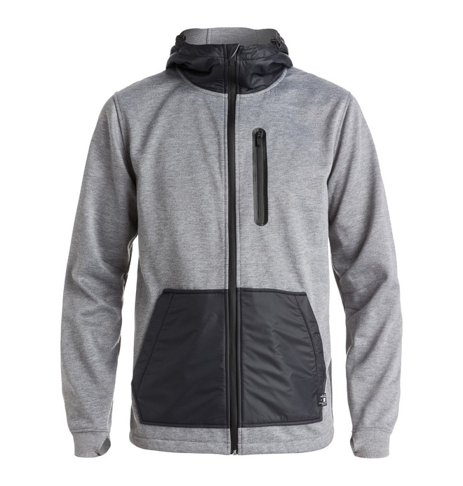 0 Men's United Zip Up Technical Hoodie  EDYFT03228 DC Shoes