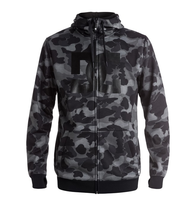 0 Men's Snowstar Zip Up Technical Hoodie  EDYFT03232 DC Shoes