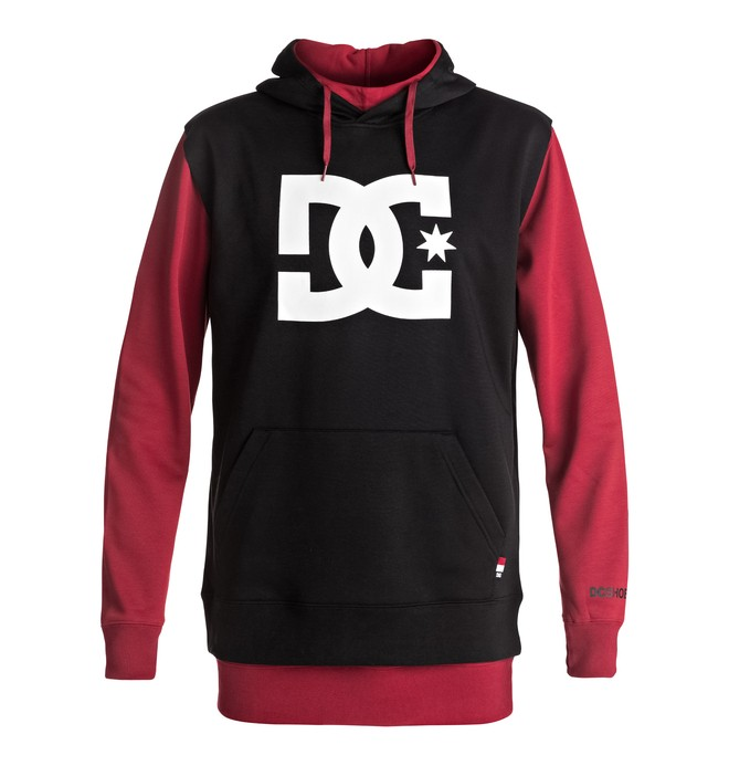 0 Dryden - Technical Hoodie Red EDYFT03286 DC Shoes