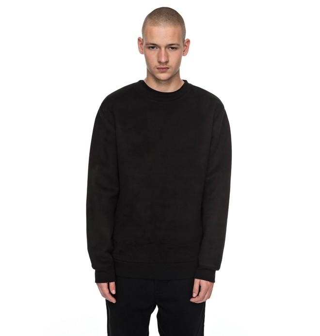 0 Atchison - Sweatshirt imitation suède pour Homme Noir EDYFT03299 DC Shoes