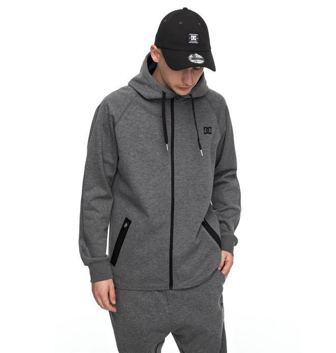 0 Woodmoor - Sweat à capuche technique zippé Noir EDYFT03303 DC Shoes