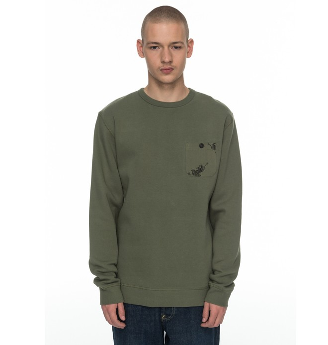 0 Cappell - Sudadera Verde EDYFT03304 DC Shoes
